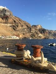 Thira, Santorin, Grèce - Vieux port de Thira