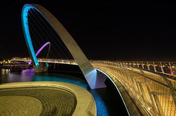 Elizabeth Quay footbridge across the Swan Riverin the city of Perth