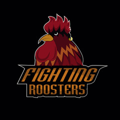 fighting roosters  logo disign