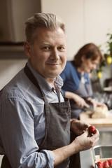 Portrait of man in kitchen