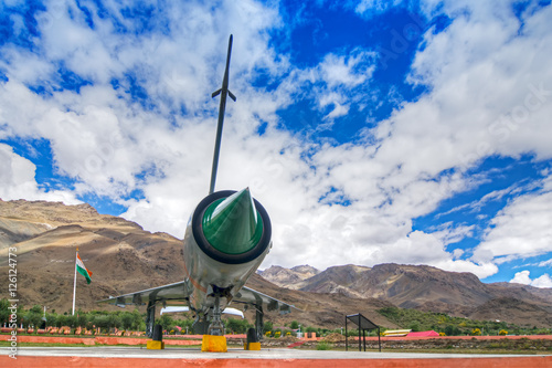 A MIG-21 fighter plane used by India in Kargil war 1999 (Operation