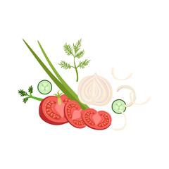 Vegetables Set Of Pizza Ingredients