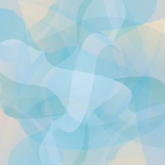 Abstract turquoise geometric vector background.