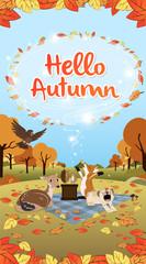 Hello Autumn season greeting long version