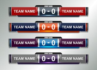 scoreboard football design elements, vector illustration