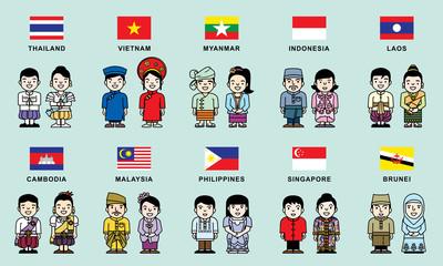 AEC flag & national costume