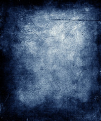 Blue Scratched Grunge Texture Background