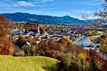 Blick vom Kalvarienberg über Bad Tölz
