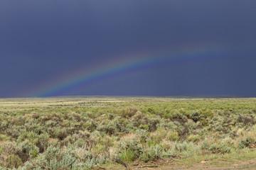 Rainbow on Wyoming Range Land
