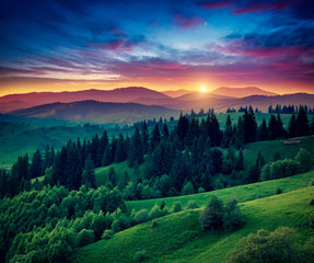 Wall Mural - magical mountains landscape