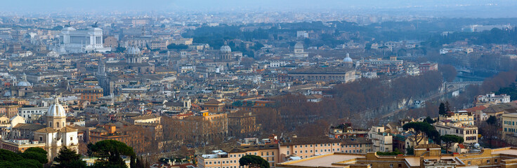 Rome city top panorama, Italy.