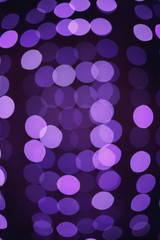 Purple christmas lights background