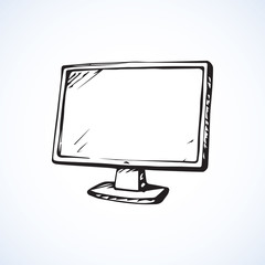 Monitor. Vector drawing