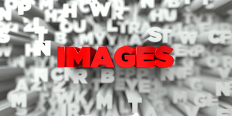 IMAGES -  Red text on typography background - 3D rendered royalty free stock image. This image can be used for an online website banner ad or a print postcard.