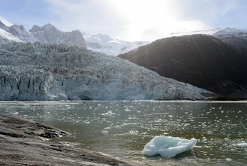Papiers peints Glaciers Pia glacier on the archipelago of Tierra del Fuego.