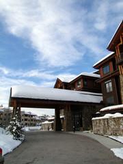 Western style condominiums, in Steamboat Springs, Colorado