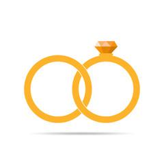 Wedding rings icon. Vector illustration.