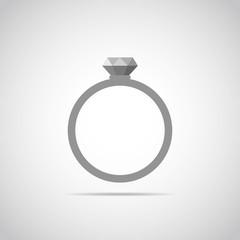Wedding ring icon. Vector illustration.