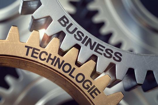 3d business zahnräder technologie
