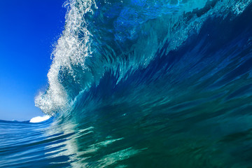 Beautiful Ocean Background Huge Shorebreak Wave for Surfing Big
