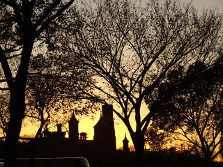 Sunset and the Smithsonian Museum