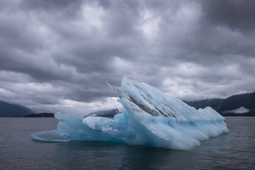Iceberg and Storm Clouds, Endicott Arm, Alaska