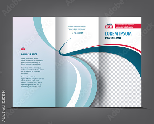 Vector Tri Fold Brochure Template Design Concept Business Trifold - Business tri fold brochure templates