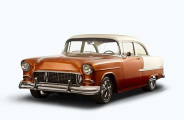 Recess Fitting Vintage cars Vintage 1955 Chevrolet Bel Air - White Background