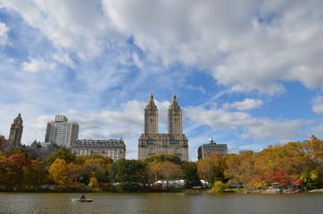 Central Park in the autumn, Manhattan, New York City, USA.