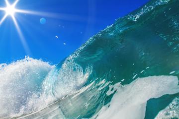 Brught Ocean Background Huge Shorebreak Wave for Surfing Big Swe