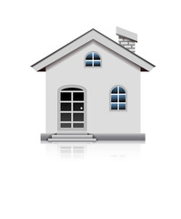 white litle house isolated cartoon for you design