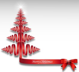 christmas background with stylize ribbon