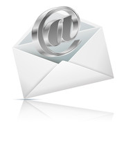Email symbol with envelope for you design