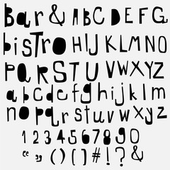 fun  doodle font collection,hand drawn alphabet set