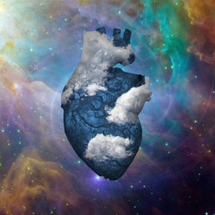 Cloud Heart with Galaxy