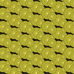 yellow gradient circles pattern background