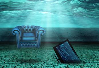 Desert Ruins underwater with Modern elements