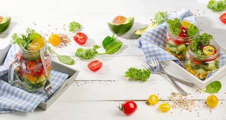 Fresh vegetable Salad. Diet and detox concept. Vegetarian eating