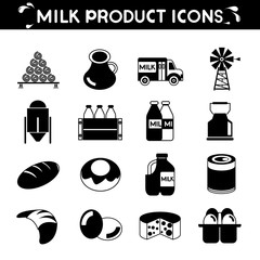 milk product icons
