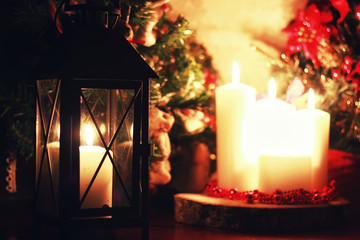 dark candle lantern holiday