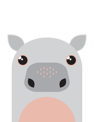 Cute hippo character