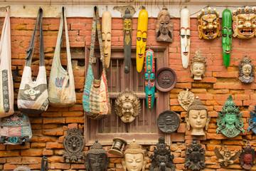 The souvenir in the Thamell market of Kathmandu, Nepal.