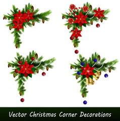 Set of Cristmas corner decorations