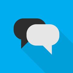 chat flat icon illustration