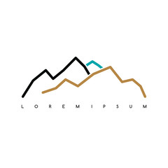 Mountain Everest outdoor adventure insignia Climbing trekking hiking mountaineering and other extreme activities logo