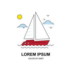 Sailboat line icon