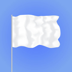 Template Blank White Flag. Vector