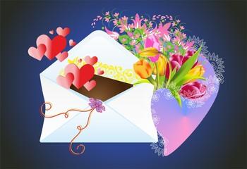 list i kwiaty