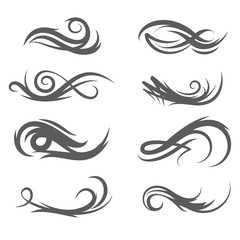 Vector tattoo style flourishes