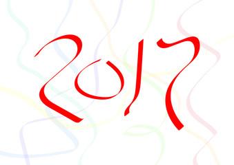 Happy New Year 2017 - Ribbon Design
